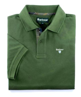 Barbour Tartan Pique Polo-Shirt, racing green