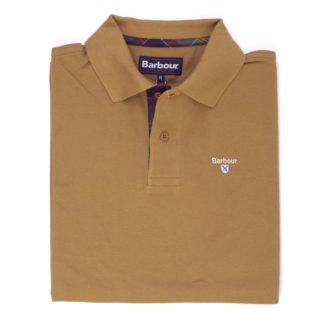 Barbour Tartan Pique Polo-Shirt, sandstone