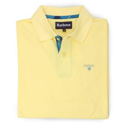 Barbour Tartan Pique Polo-Shirt, corn