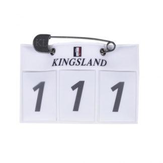 Kingsland Startnummernhalter weiß